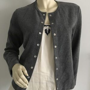 Eddie Bauer Sweaters - Eddie Baur gray snap button up cardigan